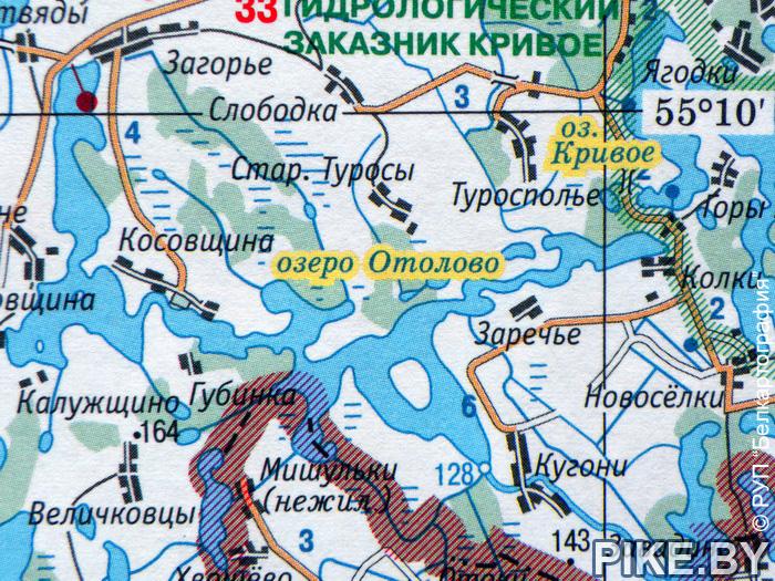 Озеро Отолово карта