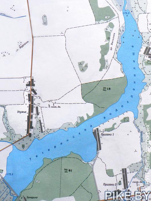 Карта Тетеринское вдхр