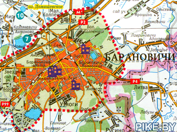 Барановичи рыбалка карта