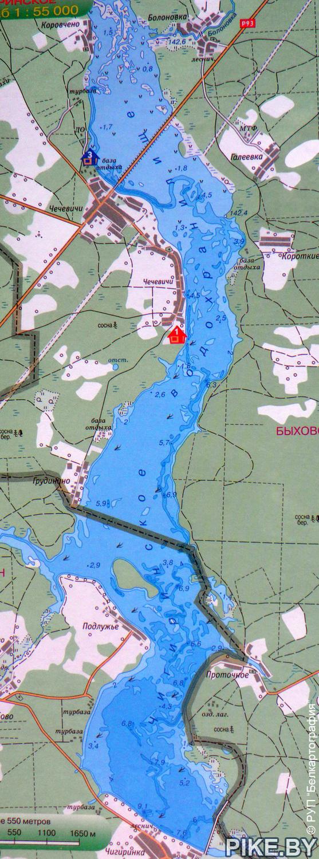 Карта глубин Чигиринка