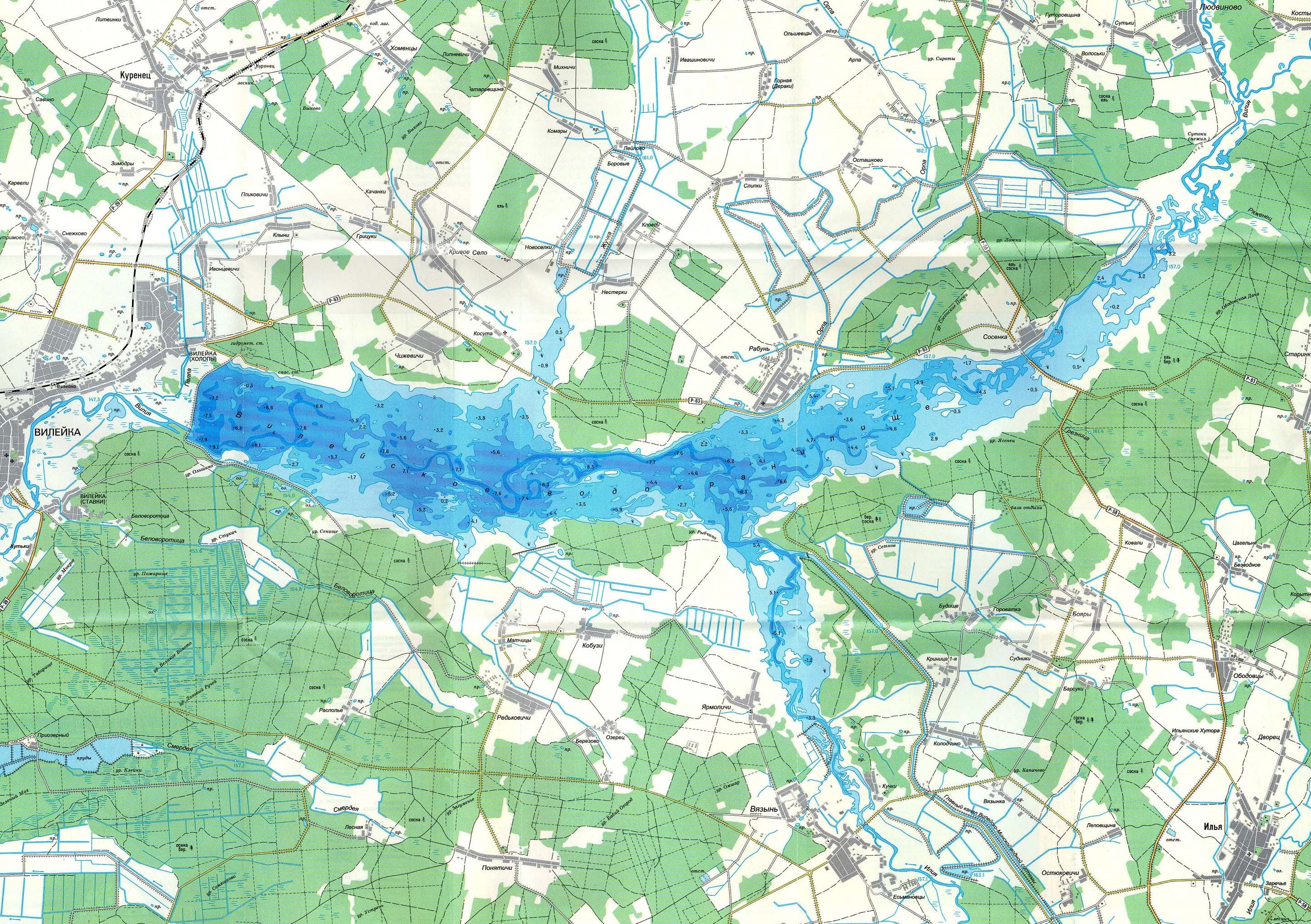 Вилейка карта глубин