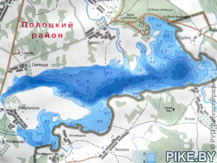 Яново озеро карта