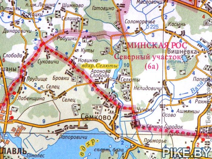 Селюты водохранилище карта