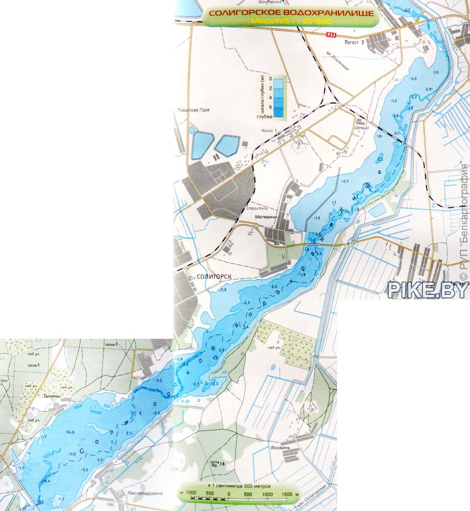 Солигорское водохранилище карта