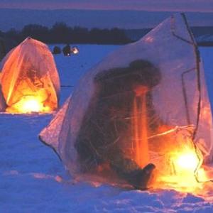 Освещение палатки на рыбалке