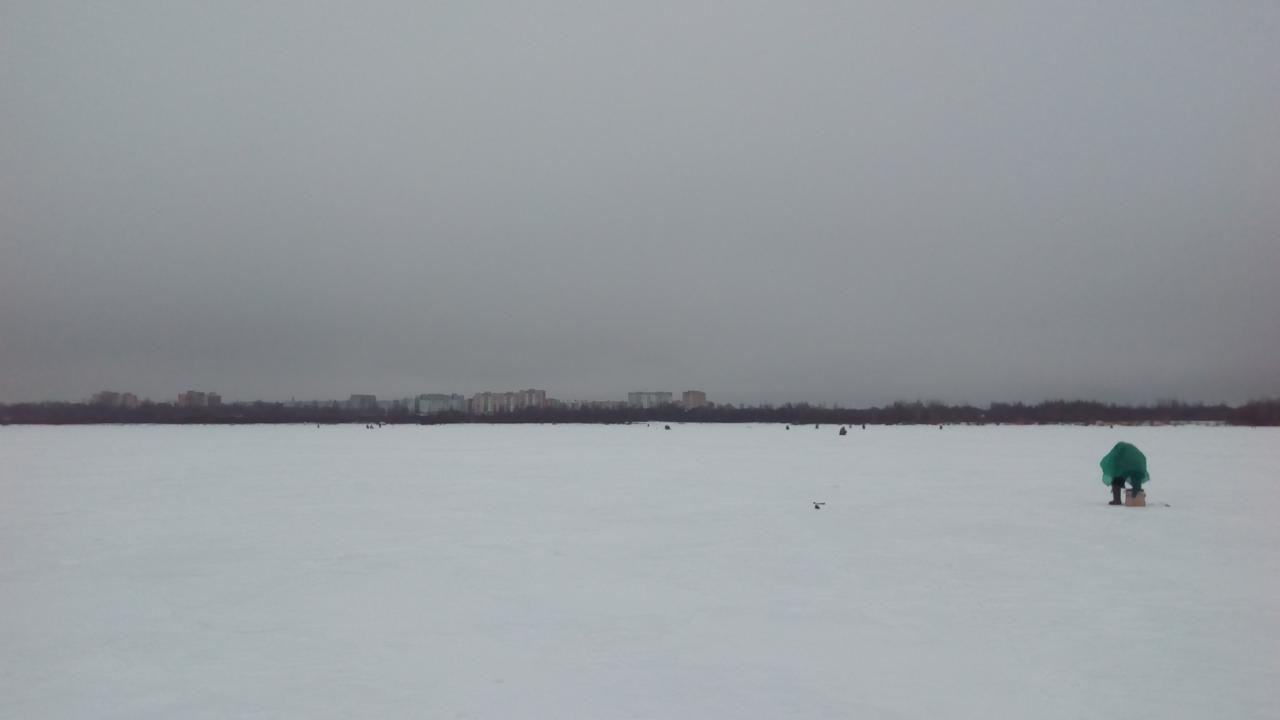 Были на Лукомле27-28 января. Выходили на лед от ... | Отчеты о рыбалке в Беларуси