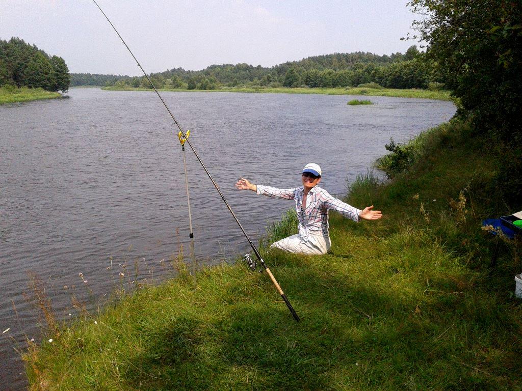 На неделе были на реке семьей. Искали новые ... | Отчеты о рыбалке в Беларуси
