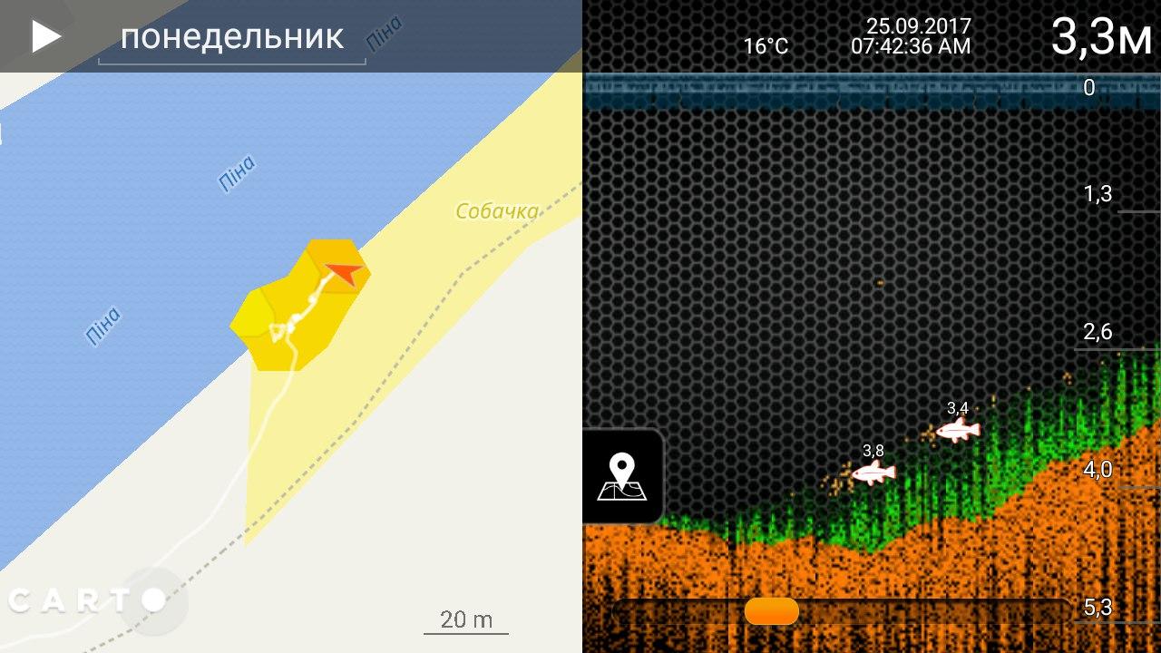 Deeper Smart Sonar PRO+ карта глубин | Отчеты о рыбалке в Беларуси