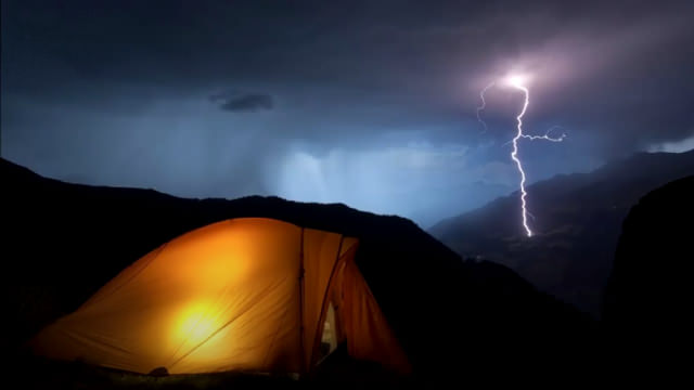 Выбрать место для палатки
